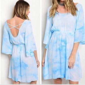 Dresses & Skirts - 💃🏻Brooke Tie-Dye Blues & White dress.